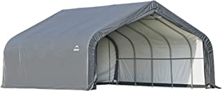 ShelterLogic Garage in a Box Waterproof Easy Drive Through Access 2-Car Auto Shelter, Grey