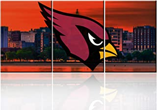 Native American Decor USA Football Paintings Arizona Cardinals Wall Art Contemporary Artwork Living Room House Decorations Cityscape Pictures Framed Ready to Hang Poster and Prints( 60''W x 28''H)