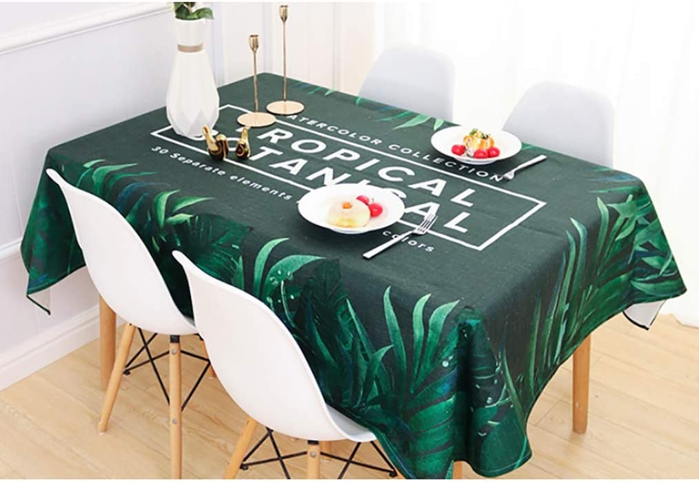 Max 80% OFF NCHEOI Plant Flower Rectangular 100% National products Cotton Dus Tablecloth Stain