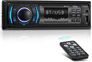 BOSS Audio Systems 616UAB Multimedia Car Stereo - Single Din LCD, Bluetooth Audio and Hands-Free Calling, Built-in Microphone, MP3/USB, Aux-in, AM/FM Radio Receiver