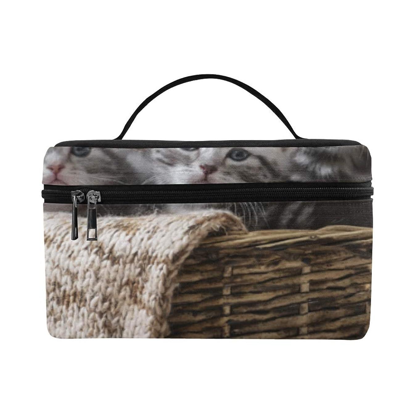 柱剥ぎ取るビリーヤギGGSXD メイクボックス 可愛い動物 子猫 コスメ収納 化粧品収納ケース 大容量 収納ボックス 化粧品入れ 化粧バッグ 旅行用 メイクブラシバッグ 化粧箱 持ち運び便利 プロ用