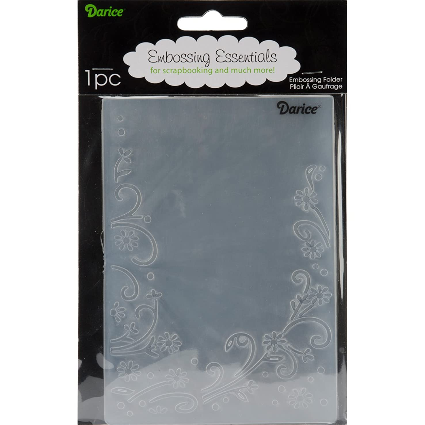 Darice Floral Border Embossing Folder, 4 .25-Inch by 5.75-Inch