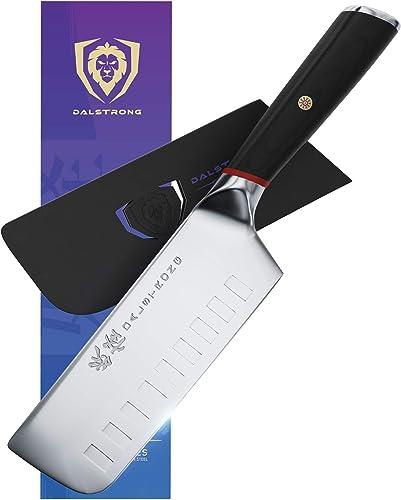 Couteau à légumes Nakiri de DALSTRONG — Série Phantom Acier japonais AUS-8 —6 pouces — Bois Pakka — Garde incluse