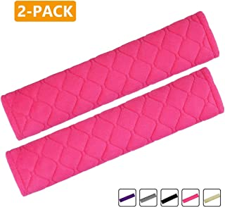 Airzir Car Seat Belt Cover Pad, 2-Pack Soft Car Seat Belt Shoulder Pad Cover for Adults and Kids, Suitable for Car Seat Belt, Backpack, Laptop Bag, Shoulder Bag, A Must Have for Your Car (Pink)