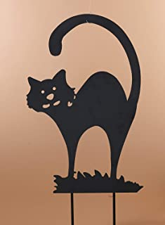 One Holiday Way Metal Black Cat Silhouette Halloween Yard Stake - Outdoor Halloween Decoration