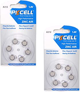 1.4V Hearing Aid Batteries Size 312 Zinc Air PR41 A312 ZA312 P312 (12Pcs)