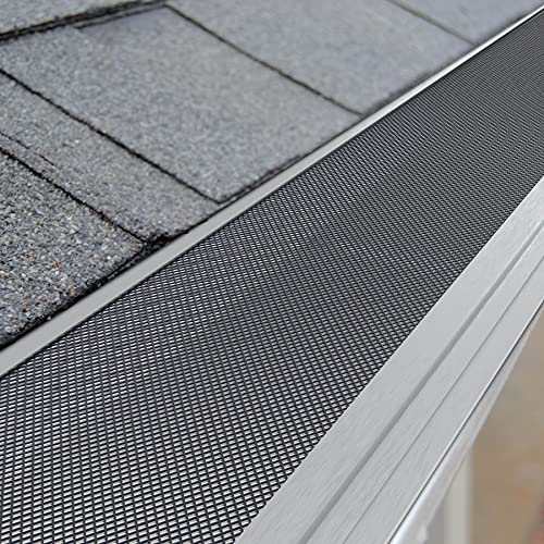 Daisypower Gutter Guard,5 Inch Aluminum Mesh Gutter Protection Covers fits Any roof or Gutter Type,Anti-Leaf,Prevents Roof Clogged Downspouts (48ft)