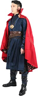 Strange Costume Deluxe Dr Outfit Red Cape Full Set Halloween Cosplay Costume Xcoser