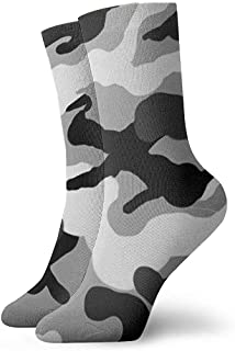 Dydan Tne, Niños Niñas Crazy Funny Army Camuflaje Calcetines de Camuflaje Grises Lindos Calcetines de Vestir de Novedad