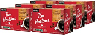 Tim Hortons Colombian Single-Serve Coffee Cups, 72-Count (6 Boxes of 12Ct K-Cups)