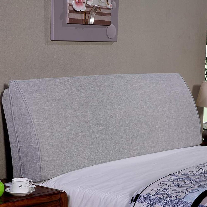 QIANCHENG-Cushion Tête De Lit Coussin étui Souple Grand Dossier lis Coussin de Taille, 6 Couleurs Unies, 11 Tailles (Couleur   D, Taille   150x10x50CM)