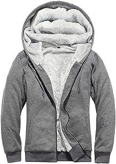 Goorape Men's Camo Thicken Hoodie Jackets Fleece Sherpa Lined Warm Coat Classic Winter Outwear