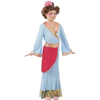 Fun Shack Azul Princesa Japonesa Disfraz para Niñas - S: Amazon.es ...