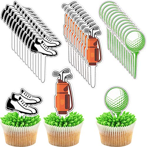 48 Pieces Golf Cupcake Toppers