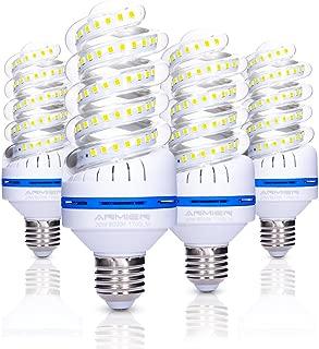 ANMIEN 150 Watt Equivalent LED Light Bulbs,20W 1700 Lumens Spiral LED Bulb,6000K Daylight White,Non-Dimmable,E27 Base,UL Listed,4-Pack