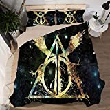 Bedding Duvet Cover King Size Hypoallergenic Harry Potters Lightweight Decorative Modern Style Microfiber Quilt Cover,K-(King264×228cm)