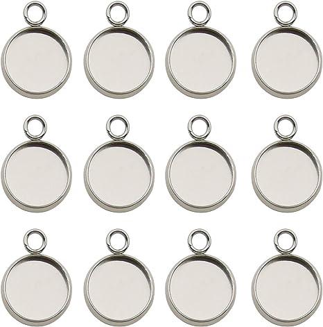 Wholesale 20pcs Gunmetal 25mm Round bezel trays setting  pendant charms findingspendant blanks cabochon size is 25mm