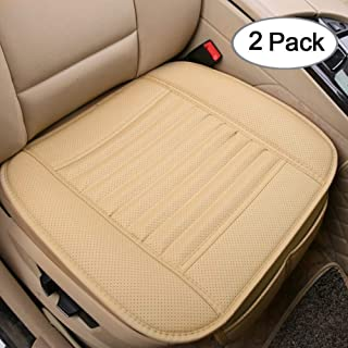 TanYoo Car Seat Cushion Memory Foam Car Seat Cushion Seat Cushion with Super Breathtable Cover for Wheelchair//Office Chair and Anti-Slip Bottom Black 17x17 Inch, 1 PCS