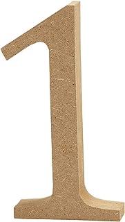 """Escultura decorativa con forma de letra""""A"""", en tablero de densidad media, marrón, madera, marrón, 7 x 2 x 13 cm"""