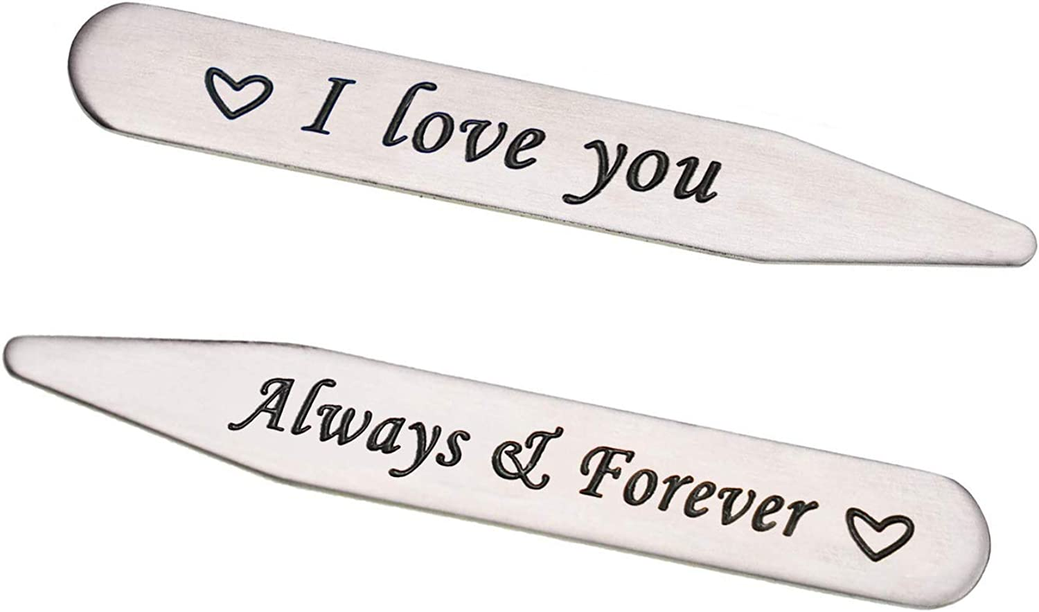 Melix Home Boyfriend Gifts from Girlfriend You Will Forever Be My Always Collar Stays for Husband Valintines Present