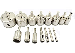 eoocvt 6-50mm 15pcs Diamond Hole Saw Tile Ceramic Glass Porcelain Marble Drill Bit Tools