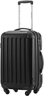 HAUPTSTADTKOFFER-Alex-Carry on luggage Suitcase Hardside Spinner Trolley Expandable 20¡° TSA Black