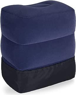 フットレスト 飛行機 足置き 足枕 旅行便利グッズ 3段階高さ 1年品質保証 日本語説明書付 ダークブルー(3色展開)