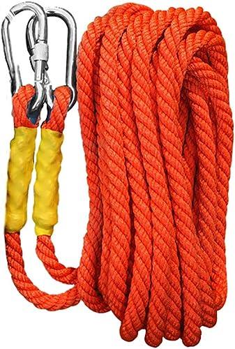 FLYSXP Corde d'escalade Corde de Nylon Corde d'évacuation aérienne Travail aérien diamètre 16mm Longueur 5 10 15 20 30 40 50 60 70 80 90   100m Orange Corde d'escalade (Taille   5m)