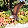 Kircust Garden Sculpture & Statue, Bald Eagle Large Outdoor Statues Metal Yard Art, Majestic America Eagle Bird Décor for Patio Yard and Lawn, 40.6-Inch Wide #3