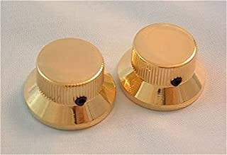 guitar accessories METAL TOP HAT Skirt KNOBS - Stratocaster style, 2 pcs GOLD