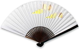 京扇子 紳士 75/25 石州唐木本楮砂子紙扇子 色紙雲(2020) 57216