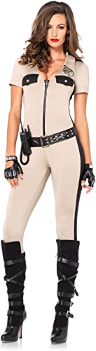 Leg Avenue Costume Combinaison Policière Sexy Bronzage Taille L