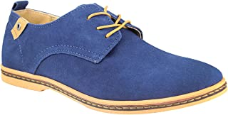 wealsex Suede Lace-Up Derby Scarpe Stringate Oxford Uomo Scarpe Casual