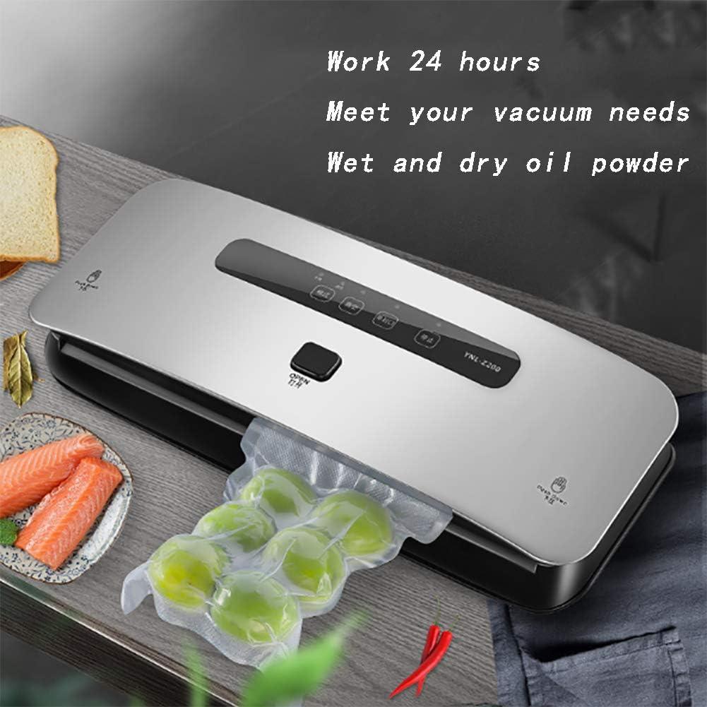 Portable Machine sous Vide avec Fil Chauffant élargissant de 3 cm, pour Aliments Secs et Humides Viandes Légumes Fruits Pink