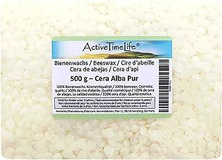 ActiveTimeLife Bienenwachs Pastillen weiß 500 g | Premium | 100% Natur perfekt für Kosmetik Kerzen Cremes Salben Seifen Wachstücher
