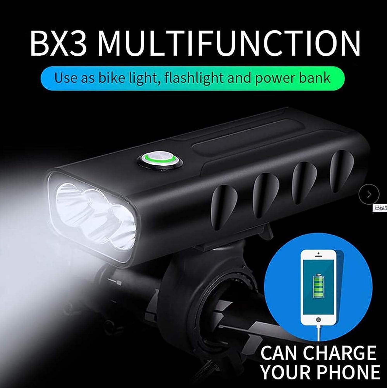 Bicycle Headlights USB Charging Waterproof, Super Bright LED MultiFunction AntiGlare Riding Safety BX3 Bicycle Headlights high Power Flashlight