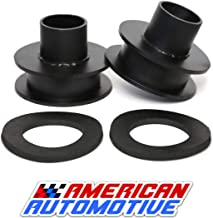 American Automotive F250 F350 Superduty Front Leveling Lift Kit 4WD Made in USA 'Road Fury' Carbon Steel Coil Spring Spacers (Set of 2) (2.5 Inch)