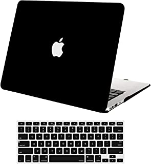 MOSISO Plastic Hard Shell Case & Keyboard Cover Skin Only Compatible with MacBook Air 11 Inch (Models: A1370 & A1465), Black