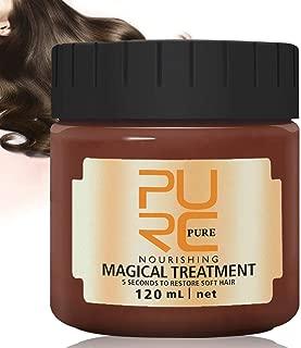 PURC Hair Treatment Mask,120ml Magical Hair Mask 5 Seconds Repairs Damage Hair Root Hair Tonic Keratin Hair & Scalp Treatment