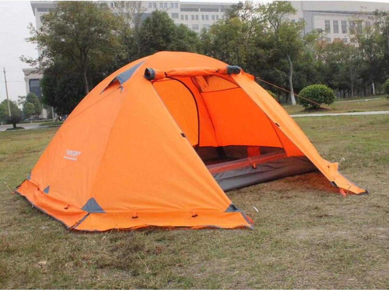 MDZH Zelt Camping Camping Zelt Im Freien 3-4 Personen Doppelt Doppelt Aluminium Stange Winddicht Regensturm Mit Schnee Rock Wildzelt B07Q8F8KG8  Verbraucher zuerst