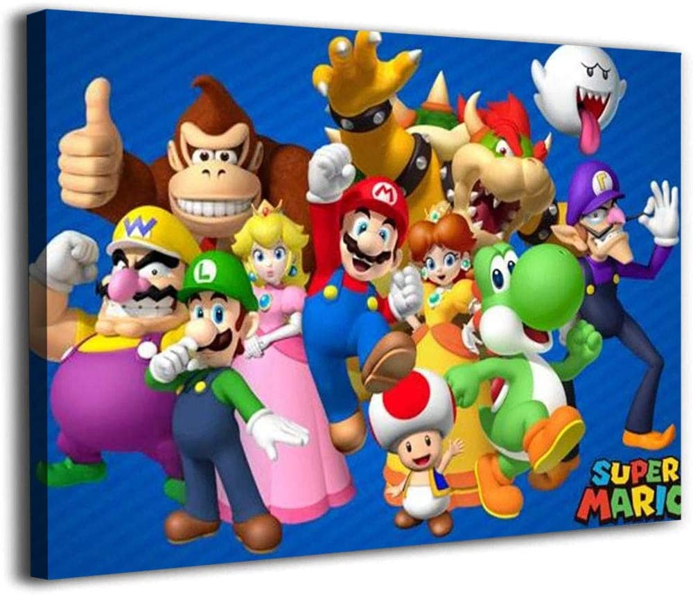 Canvas Picture Super 贈物 Mario Wall 半額 Art Painting Luigi