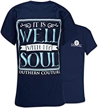 Southern Couture SC Classic It is Well Womens Classic Fit T-Shirt - Navy