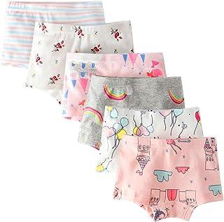 7dc6d43814277 Bossail Kids Soft Cotton Toddler Underwear 6-Pack Little Girls' Assorted  Boyshort Panties