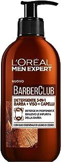 L'ORÉAL Paris Men Expert Barber Club Detergente 3 in 1 per Barba, Viso e Capelli, Senza Sapone, Deterge in Profondità, 200 ml