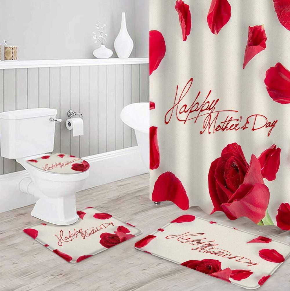 FAMILYDECOR 4 Pcs Bathroom Cash special price Decor Set Bath Waterproof Polyester Bombing free shipping
