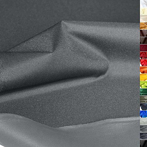 TOLKO wasserfest beschichteter Nylon Stoff | Fester Segeltuch Planenstoff als Nylonplane für Aussenbereich | Reißfest und Langlebig | Meterware 150cm breit Schwerer Outdoorstoff (Grau)