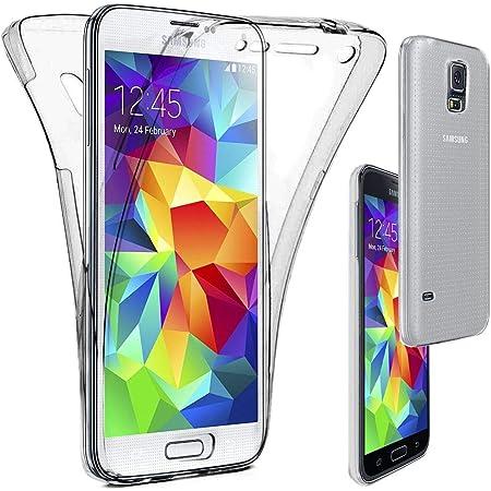 ebestStar - Coque Compatible avec Samsung S5 G900F, Galaxy S5 New G903F Neo Etui Housse Silicone Gel Intégrale Avant et Arrière, Transparent ...