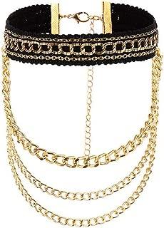 Cadena De Oro Personalizada Collar En Capas Mujeres Moda Steampunk