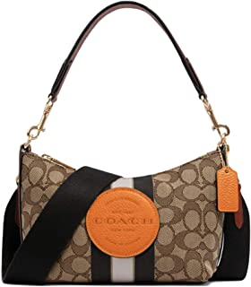 Coach Women's Dempsey Shoulder Bag In Signature Jacquard With Stripe And Patch