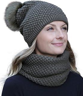 d5a3384444501 HILLTOP - ensemble hiver avec écharpe et bonnet assorti (bonnet avec pompon)